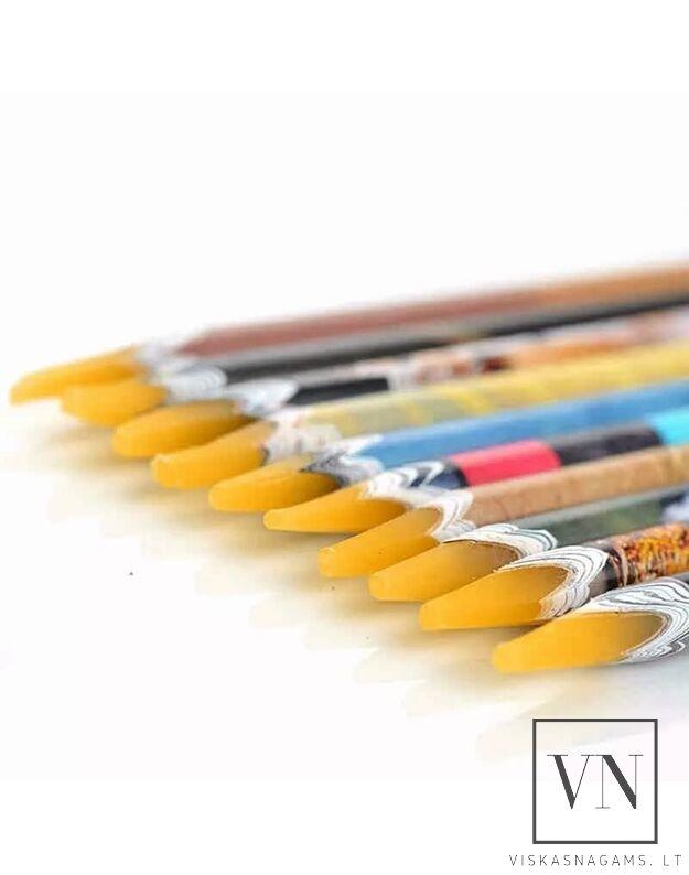Vaškinis pieštukas skirtas paimti/surinkti akmenėlius