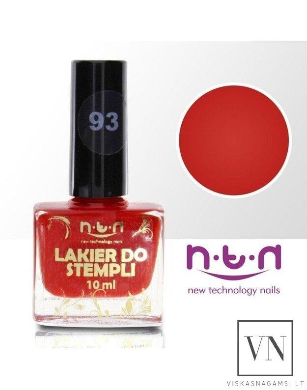 """NTN nail lacquer"" nagų lakas štampavimui , nr.93"