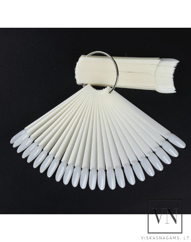 Natūralios spalvos tipsų vėduoklė, 50vnt. (12cm)